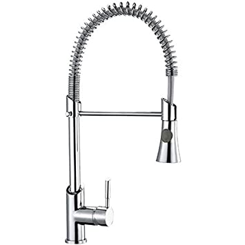 milano pull down sprayer kitchen sink mixer pull out spray tap swivel spout solid. beautiful ideas. Home Design Ideas