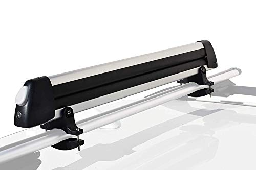 (Booster Universal Car Ski Rack Snowboard Rack Roof Rack Ski Car Rack Fits 6 Pairs of Ski Board or 4 Snowboards, Ski Roof Carrier, Fit Most Vehicles Equipped Cross Bars)