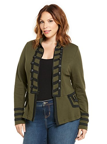 Knit Zip Front Military Jacket