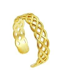 10k Yellow Gold Trinity Knot Celtic Toe Ring