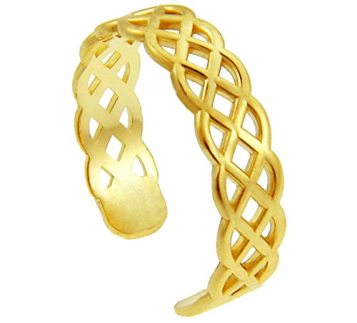 10k Yellow Gold Trinity Knot Celtic Toe Ring (Claddagh Ring Gold Knot)