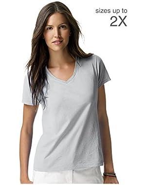 Hanes S04V Hanes Women's Nano-T V-Neck T-Shirt