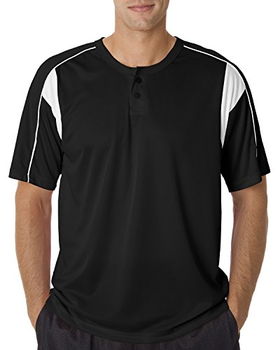 Badger Sport Adult B-Dry Pro Henley Tee (Badger T-shirt Henley)