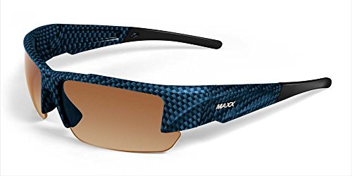 2017 Maxx Sunglasses TR90 Stealth 2.0 Blue Carbon Fiber HD Polarized - Sunglasses Hd Maxx