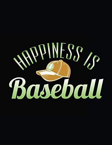 Happiness Is Baseball: Baseball Doodle Sketch -
