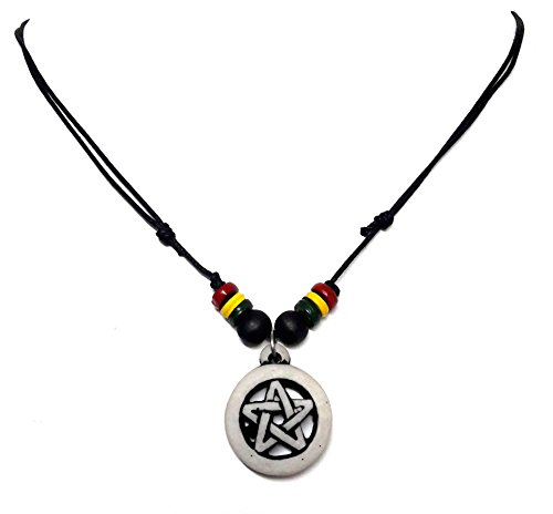 [Powerful Inverted Pentacle Pentagram Star Pewter Pendant Necklace Resin Pendant Necklace] (Mother And Infant Daughter Costumes)