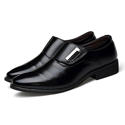Shoes Oxfords Black Slip XMWEALTHY Tuxedo on Toe Mens Pointed Dress wnzzOxZXq8