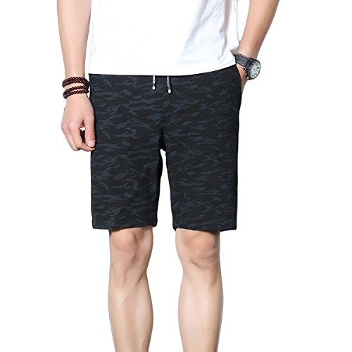 KaiDi Men's Summer Board Shorts Quick Dry Beach Shorts Swim Trunks with Pockets (XS, 2# Black) by KaiDi (Image #1)