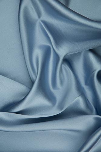 Lavender Blue Silk Crepe Back Satin Fabric