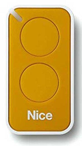 Nice Era-Inti T/él/écommande pour portail originale 2/touches 433,92/MHz /à code al/éatoire pour remplacer les t/él/écommandes Nice Very VR ONE FLO2R-S et FLO1R-S ON2 ainsi que FLOR ON1