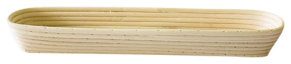 Bread Experience Baguette Banneton Brotform Rattan Oblong Proofing Bread Rising Basket 17 Inch