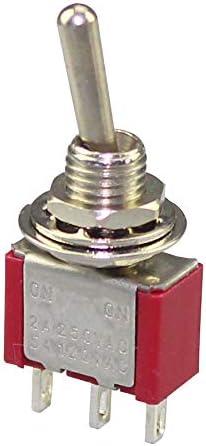 Neu 5x AC125V 6A 3 Position 3Pin Spdt Micro Mini Knebel Schalter