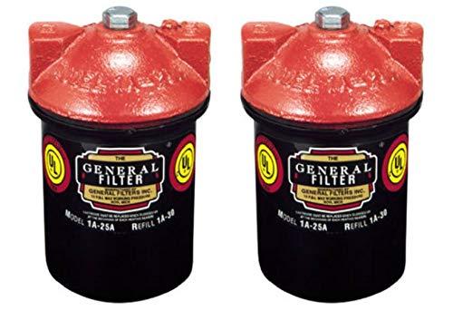 General Filter 1A-25B Standard Fuel Oil Filter, 3/8-Inch, 2 Pack