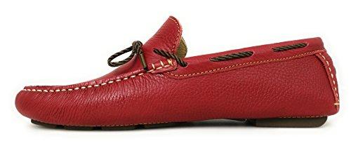 per Scarpe Barca Scarpe da da Barca da Uomo Pelle Nautiche Zerimar Rosso Uomo Estive Scarpe Uomo Mocassini in Uomo qACEXwExd