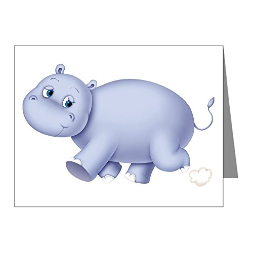 CafePress - Indigo Hippo Note Cards (Pk of 20) - Blank Note Cards (Pack of 20) Glossy (Hippo Note Card)