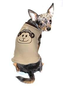 Hip Doggie Tan Monkey Sweater Vest, Big Dog X-Small