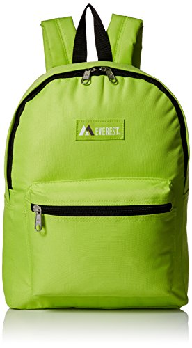 Everest Luggage Basic Backpack, Lime, Medium]()