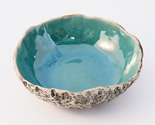 (Stunning BERMUDA TURQUOISE handmade ceramic soup bowl, stoneware pottery salad bowl, Muesli & Serving bowl, Wedding gift, Christmas & Birthday gift. 7 natural color glaze variations to choose)