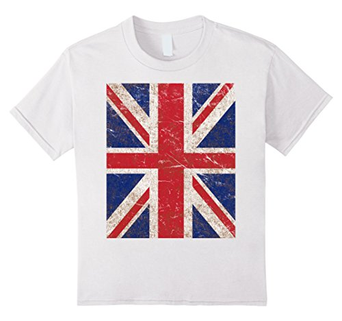 Kids Vintage Union Jack Flag T-Shirt 12 White (Womens Vintage T Shirts British compare prices)
