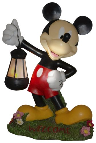 Woods International 4021 Mickey Mouse Holding Lighted Lantern,