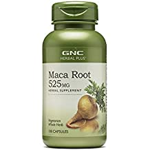GNC Herbal Plus Maca Root for Increased Libido, Fertility, Menopause, Mood Sports Performance, 525mg