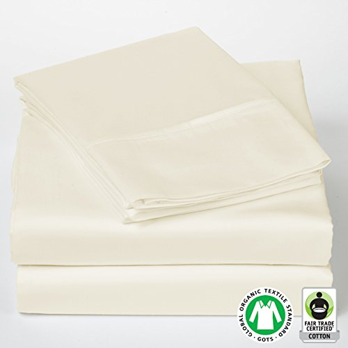 fair trade organic cotton sheets sol organics luxury cal king sateen ivory 300 thread count