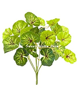 Aglaonema Leaf Bush Sweet Home Deco Water-Resistant Faux Plant Artificial Leaf Bush Small Size Bush DIY Craft Greenery Set of 3