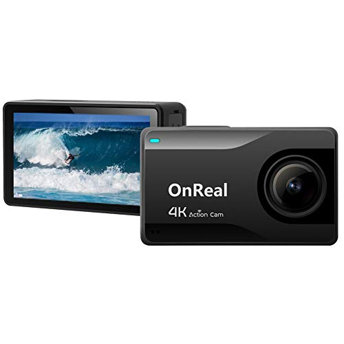 Native 4K Action Camera, OnReal B1KS+ WiFi Sports Camera, 2.45