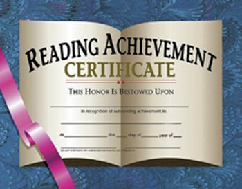 * CERTIFICATES READING ACHIEVEMENT 30 (Achievement Certificate Reading)