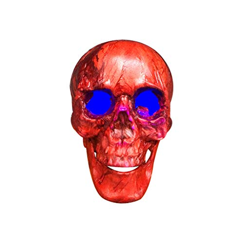 ☀ Dergo ☀ Halloween Fake Skull, Halloween Decorations Resin Wacky Funny Novelty Illuminate Skull Toys (Cushions Wacky)