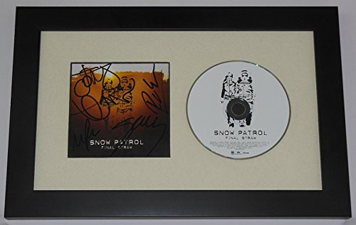 Cd Somerset - Snow Patrol The Final Straw Authentic Group Signed Autographed Music Cd Cover Compact Disc Framed Display Loa