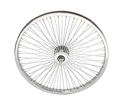 "20"" 72 Spoke Front Wheel 14G Chrome. Bicycle wheel, bike wheel, Lowrider bike wheel, lowrider bicycle wheel, bmx, free style, chopper, cuiser, bike part, bicycle part"