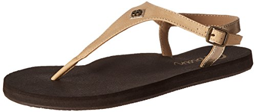 Cobian Women's Brooklyn Flip Flop, Nude, 6 M US