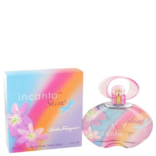 Incanto Shine Eau De Parfum Spray - Salvätorë Ferrãgamõ Incãnto Shïne Pérfume for women 3.4 oz Eau De Toilette Spray+Free L/L Vial