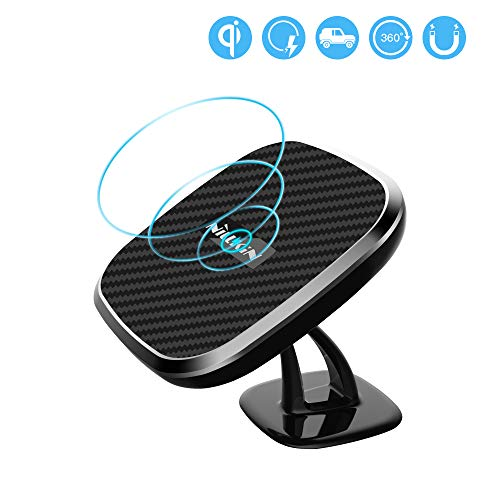 Fast Wireless Charger, Nillkin 10W Fast Charging 2-in-1 Qi Magnetic Wireless Car Mount Charging Pad for iPhone X/iPhone 8/8 Plus/Samsung Galaxy Note 8/S8 Plus All Qi-Enabled Devices - Black