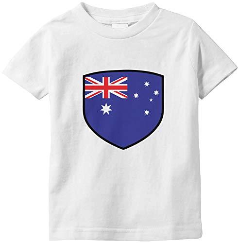 Amdesco Australia Shield Australian Flag Infant T-Shirt, White 18 Month