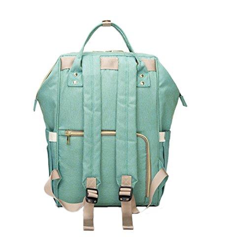 momia pañales cambiando bolso Gran Capacidad mochila Impermeable bolsa de viaje multifunción bebé pañal Tote Bag Zexin Azul