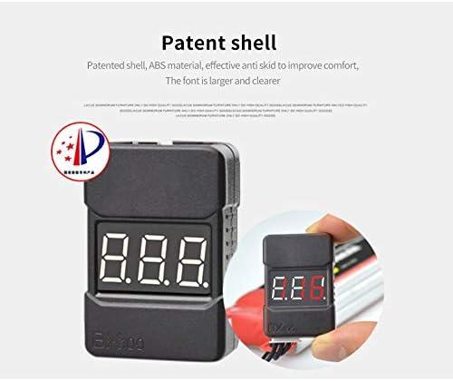 Color: 2 pcs Parts /& Accessories 1//2pcs HotRc BX100 1-8S Lipo Battery Voltage Tester//Low Voltage Buzzer Alarm//Battery Voltage Checker with Dual Speakers