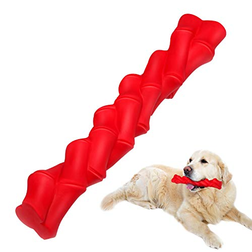 WINGPET Dog Chew Toy – Tough Indestructible Dog Toys with Natural Durable Rubber, Puppy Dogs Chewers Bone & Stick…