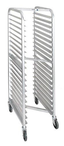 Channel Manufacturing 406AN-HD 18 Pan Front Load Heavy-Duty Aluminum Nesting Bun / Sheet Pan Rack - Assembled (Hd Heavy Duty Rack)