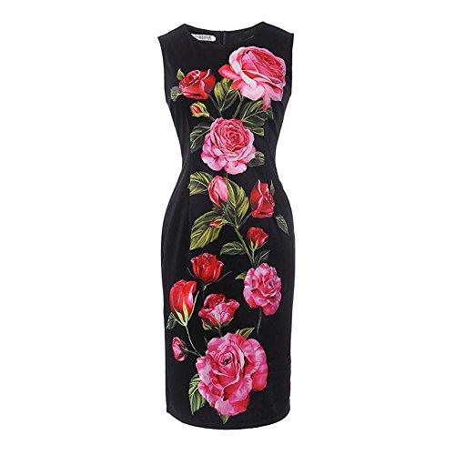 Women's Business Dress Fit Pencil Dress Sleeveless Dress Cocktail Bodycon Erosebridal O Slim H8wqdZxH0