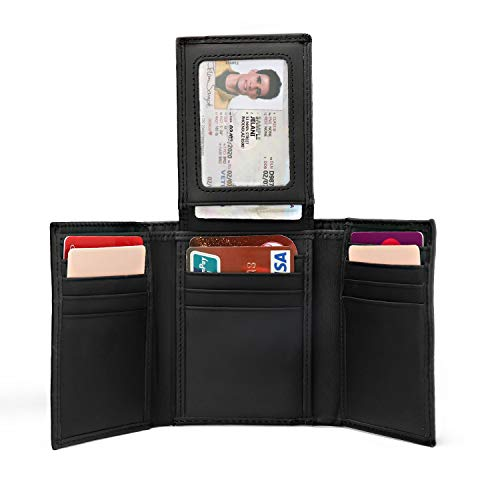 wallet for men genuine leather rfid blocking trifold stylish wallet