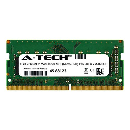 A-Tech 4GB Module for MSI (Micro Star) Pro 20EX 7M-020US Laptop & Notebook Compatible DDR4 2666Mhz Memory Ram - Notebook 020us