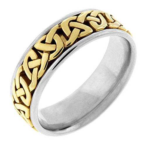 14K Two Tone Gold Celtic Love Knot Women