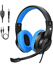 ShinePick 3.5mm PS4 Gaming Headset with Microphone and Volume Control Compatible with PS4, New Xbox One, Xbox One S, Xbox One X, Nintendo Switch, PC (Blue)