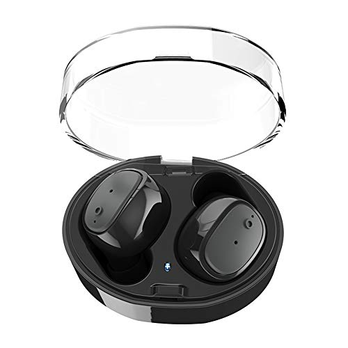 Bluetooth Auriculares, asmotim Wireless Dual Auriculares estéreo con caja de carga Micrófono V4.2 True Mini In-Ear auriculares Sport Earbuds Auriculares ...