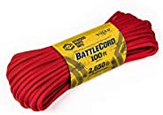 Atwood Rope MFG 5.6MM BattleCord - 2650lb Tensile Strength (Red, 100)