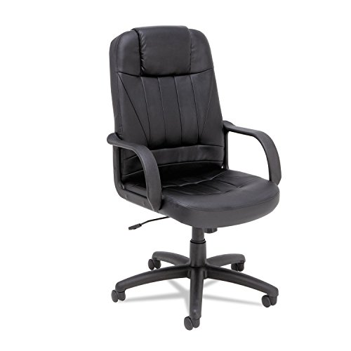Alera Sparis Executive High-Back Swivel/Tilt Chair, Leather, Black