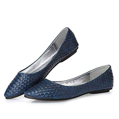 weaving shoes shoes work nbsp;pregnant Women's mouth women EU shallow flat office fashion nbsp; shoes FLYRCX 41 single casual nbsp; shoes qY7pFFv