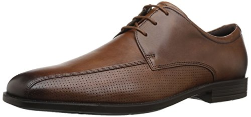 ECCO Men's Edinburgh Perforated Tie Oxford, Amber Perforated, 46 EU/12-12.5 M (Edinburgh Airport)
